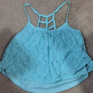 Rue 21 turquoise cropped tank top
